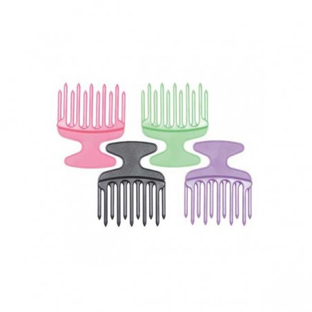 Peigne Afro 11 Dents Doubles Colori Assorti