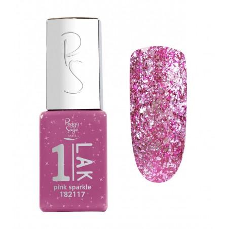One-LAK 1-step gel polish pink sparkle - 5ml
