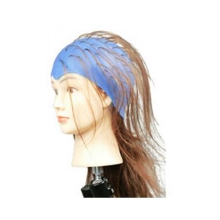 Bonnet silic-caout bleu pour meches