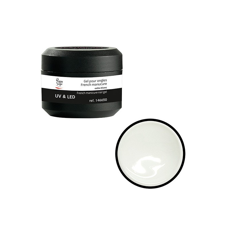 Gel UV  et  LED pour ongles French manucure extra-blanc 15g