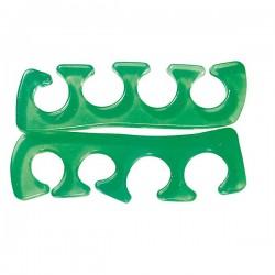 1 paire de séparateurs d'orteils - silicone - vert