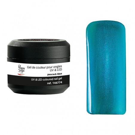 Gel UV et LED couleur pour ongles peacock blue 5g