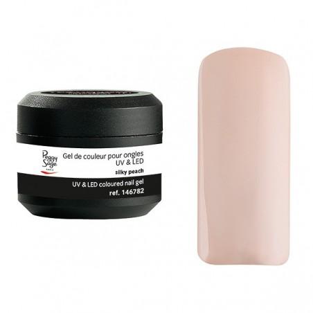 Gel UV et LED couleur pour ongles silky peach 5g