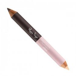 Crayon à sourcils + illuminateur châtain