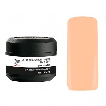 Gel UV et LED couleur pour ongles peach melba 5g
