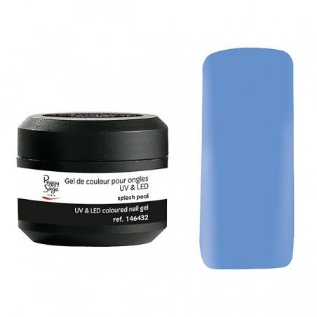 Gel UV et LED couleur pour ongles splash pool 5g