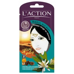 MASQUE VISAGE AU RHASSOUL  L'ACTION
