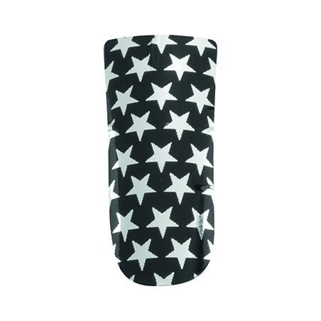 *nail foils decors adhesifs pour ongles black et silver stars