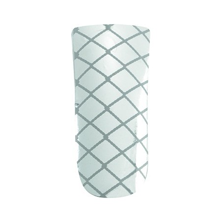 *nail foils decors adhesifs pour ongles silver criss cross