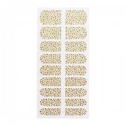 Décors adhésifs pour ongles precious nails gold