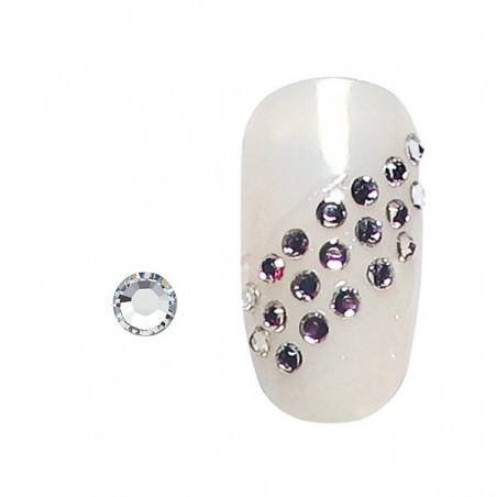 100 strass pour ongles argent SS3
