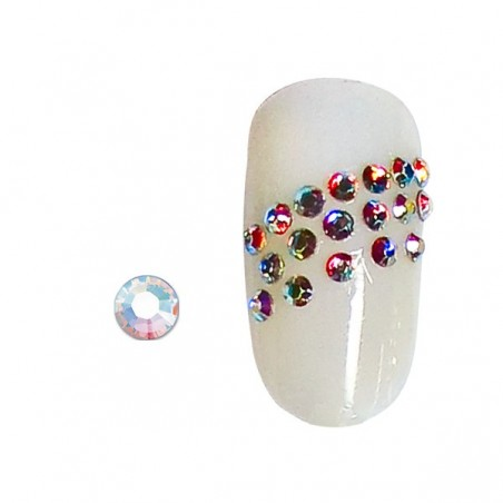100 strass pour ongles aurore boréale SS3