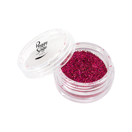 *Paillettes pour ongles tacky fuchsia 1g