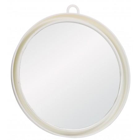 Miroir Suny Blanc Avec Poigné Et Support Mural