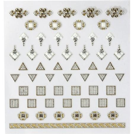 Décors adhésifs pour ongles jewel
