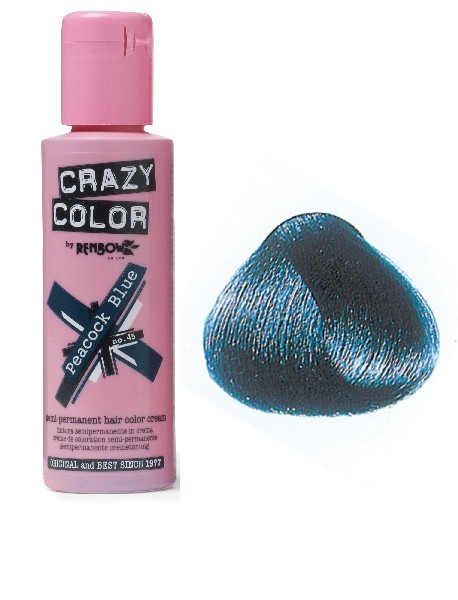 CRAZY COLOR 100ml PEACOCK BLUE