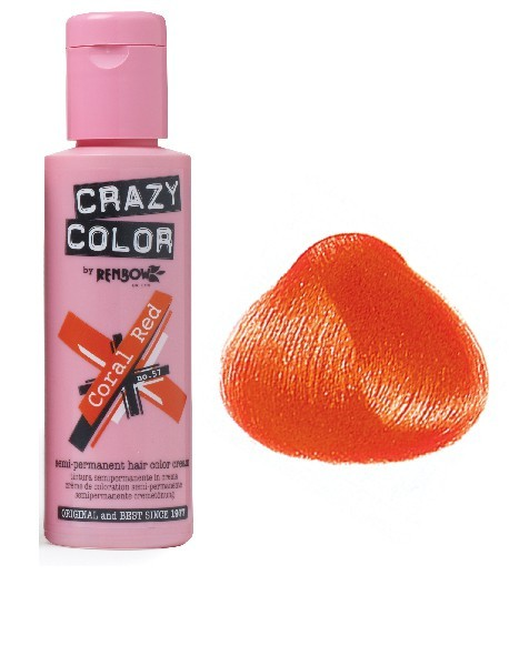 CRAZY COLOR 100ml CORAL RED