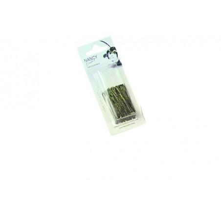 Epingles droites perlées Kifix bronze (4.5cm) x50