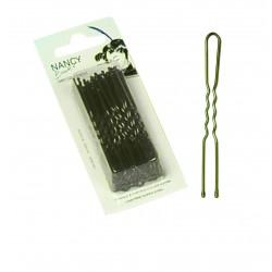 Pinces ondulées perlées Kifix bronze (7cm) x40