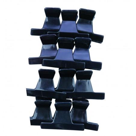 Pince Croco Noire Pm X12 Eco 6 Cm