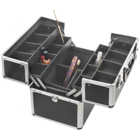 Valise Vanitex - 5Black Croco 365X235X285Mm