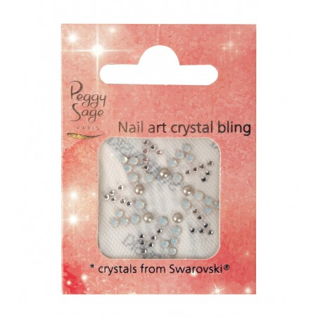 *Nail art Crystal bling E