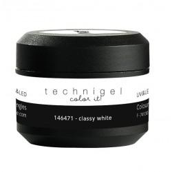 Gel UV et LED couleur pour ongles classy white  5g