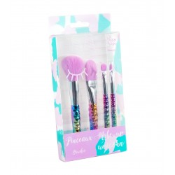 Set 4 pinceaux make-up Unicorn