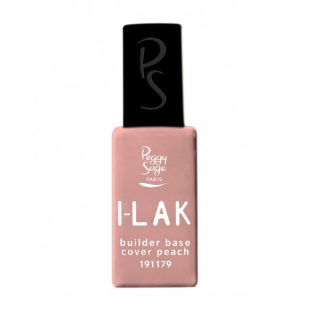 I-LAK soak off gel polish Builder base Cover peach  - 11ml