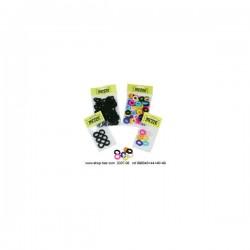 Elastiques Velours Chouchou Multicolor X50