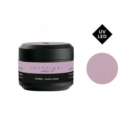 Gel UV et LED couleur pour ongles violet cream 5g