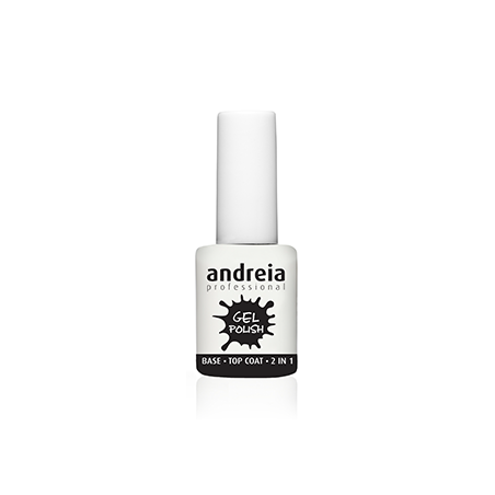 BASE ET TOP COAT 2 EN 1 GEL POLISH ANDREIA 10.5ml