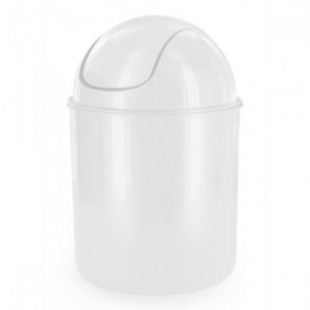 Poubelle Plastique PP Blanche 1.5L D14*20cm