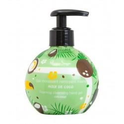 Gel moussant nettoyant mains noix de coco 250ml